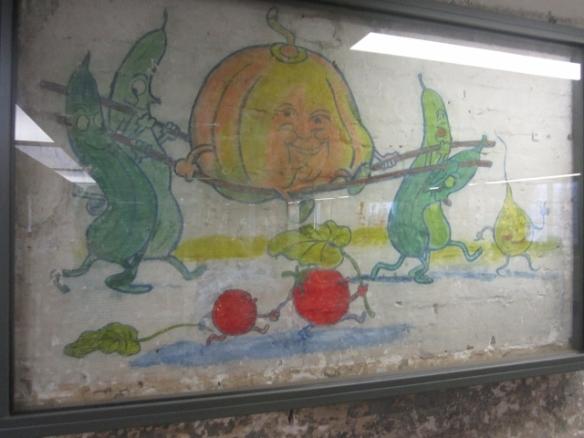 Original mural in the cellar