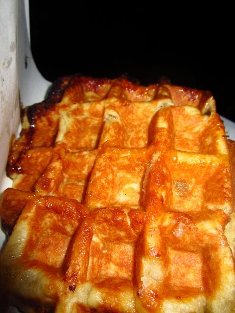 The magical waffle itself